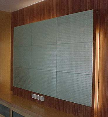 Etched Glass Wall Panel