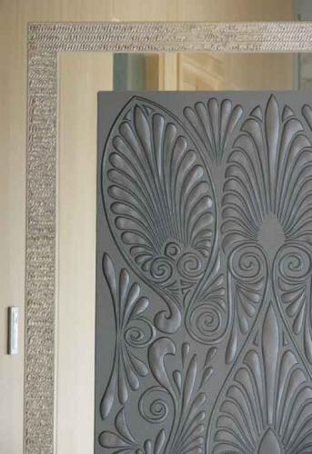 Etched Glass Door Panel