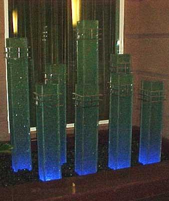 Lighted Display Columns