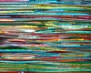 Fused Stacked Glass Rainbow