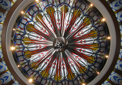 glass art chandelier